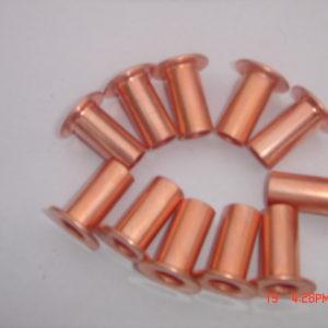Steel Rivets Copper  Coated Fully Tubular